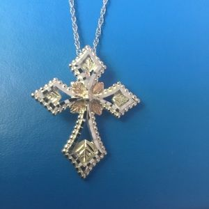 Jewelry - Sterling Silver and 12k Gold Cross Necklace
